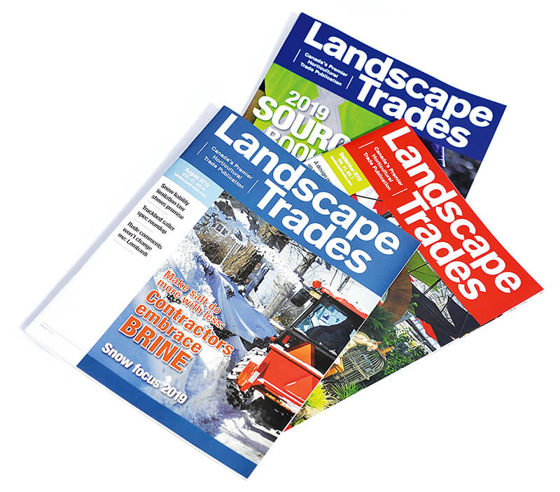 issues of landscape trades magazine