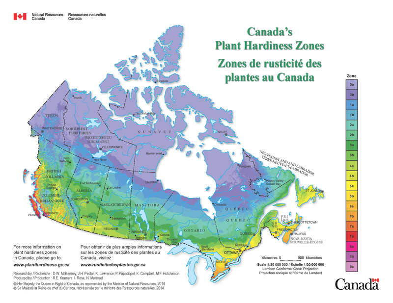 Map Of Gardening Zones In Canada Canada's new plant hardiness zones   Landscape Ontario